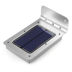 Motion sensor de luz solar powered 16 led al aire libre a prueba de agua inalámbrico de pared de luz nocturna lámpara de luz para el jardín de entrada de seguridad