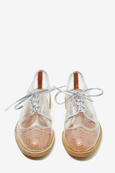 Jeffrey Campbell Townsend Transparent Oxford   Shop What's New at Nasty Gal
