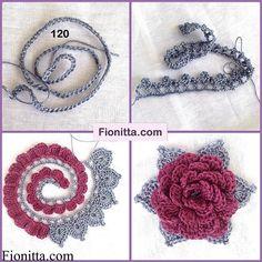 crochet flower pattern (17)                                                                                                                                                                                 More