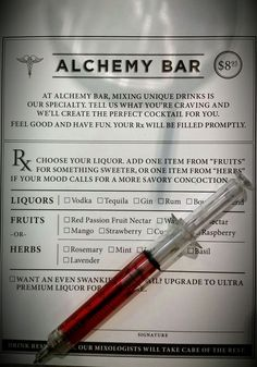 Cure what ails you at the Alchemy Bar on Carnival Cruises