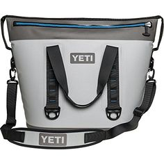 YETI Hopper Two 40 Portable Cooler Fog Gray Tahoe Blue * Click image for more details. (This is an affiliate link) Patio Cooler, Outdoor Cooler, Best Soft Cooler, Yeti Bag, Best Presents For Men, Cooler Reviews, Yeti Tundra, Soft Sided Coolers, Camping Storage