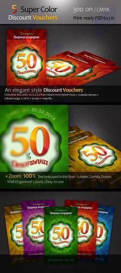 My new promotion and voucher Graphic Design Pinterest - discount voucher design