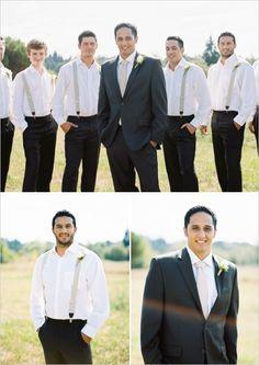 the groom and his men in suspenders #groom #groomsmen #weddingchicks http://www.weddingchicks.com/2014/02/10/cant-rush-love-wedding/