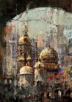 """Projet""""Prawda"""" 2015 Fantasy Art, Digital Art, Artist, Paintings, Inspiration, City, Painting Abstract, Abstract, Architecture"""