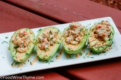 Crab Meat & Shrimp Salad Stuffed Avocados