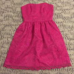 """NEVER WORN LILLY PULITZER SWEETHEART DRESS Lily Pulitzer sweetheart """"Payton"""" style dress. Never worn. Great condition. Would be perfect for any party! Lilly Pulitzer Dresses"""