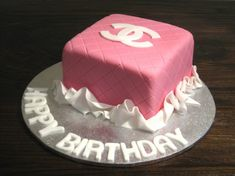 Pink Chanel Birthday Cake. My birthday is in eight days, who's making me this?