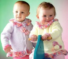 Vintage Baby Child Knit Fluffy Shimmer Tunic by PatternMuseum