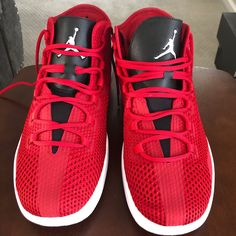 differently 3ba1c 8eb41 Shop Men s Jordan Red Black size 15 Sneakers at a discounted price at  Poshmark. Description  Jordan Reveal Gym red white-black Used condition  Sold by ...