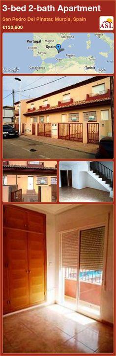 3-bed 2-bath Apartment in San Pedro Del Pinatar, Murcia, Spain ►€132,600 #PropertyForSaleInSpain