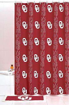 New Oklahoma Sooners Fabric Shower Curtain   eBay