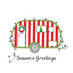 Candy Cane Christmas Camper by rachelink on Etsy