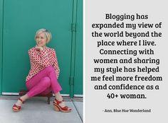 Ann, Blue Hue Wonderlandt on being a 40+ fashion blogger