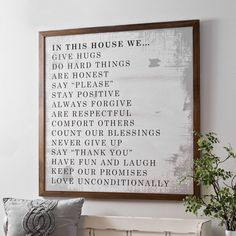 New year, new rules. It's easy to keep your home filled with love and happiness all year long when you follow our house rules. Hang them up in your entryway for everyone to see!