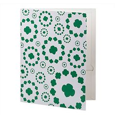 TREFOIL DESIGN 2 POCKET FOLDER- $8.00.