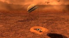 Artist depiction of Huygens landing on Titan. Credit: ESAIt's almost exactly 10 years ago that humanity parachuted a spacecraft into Titan, that moon of Saturn that could hold chemistry similar to what sat on Earth before life arose. Called Huygens, the probe survived for just about an hour on the surface on Jan. 14, 2005, transmitting information back about conditions there and on the way down.