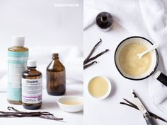 Zutaten für DIY Badeschaum: Naturseife, Glycerin, Mandelöl Glycerin, Schaum, Handmade Books, Diy Beauty, Candle Jars, Body Care, Cosmetics, Tableware, Ethnic Recipes