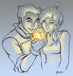 Mako showing his love for Korra.