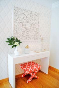 Brilho e Luz! - Decoração de sala de estar e jantar: Salas de estar modernas por White Glam
