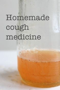 Really simple homemade cough medicine from Wolves in London blog.