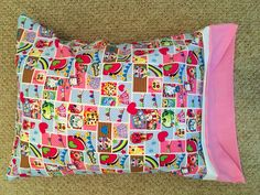 Childrens pillowcases by GeeGeeGoGo on Etsy