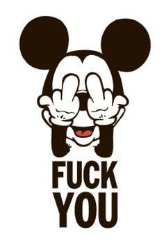 Imagen de mickey, fuck, and mickey mouse