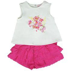 Honey & Clover Kidswear / Children's Apparel | 2-Piece Fuchsia Shorts Set by Mayoral