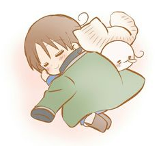 Hetalia>> GUESS WHO OWNS THE JACKET HE'S USING AS A BLANKET *GRINS HAPPILY* GERITA <3 <3