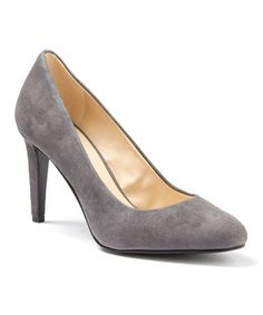 This Gray Handjive Suede Pump is perfect! #zulilyfinds