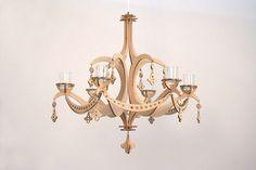CNC cut chandelier