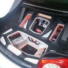 vw eos slammed custom car stereo trunk install JL Audio