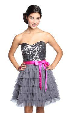 mesh sweetheart sequin homecoming dress  $82.50