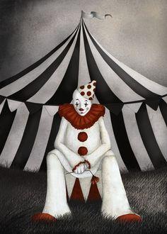 Cirkus clown - Illustration A3 (29,7 cm x 42 cm) - New arrivals!