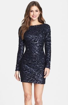 Dress the Population 'Lola' Sequin Body-Con Dress (Nordstrom Online Exclusive)