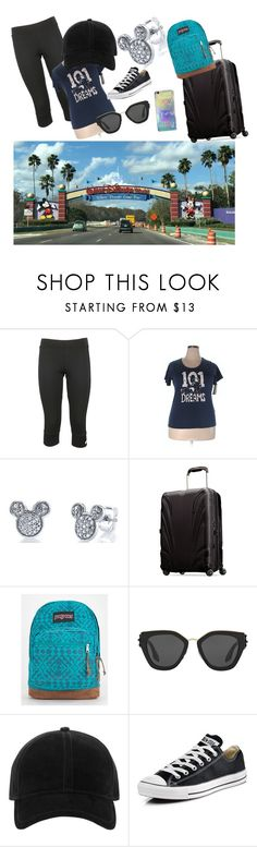 """Arriving at Walt Disney World Florida"" by datnerdyfangirl ❤ liked on Polyvore featuring adidas, Disney, Samsonite, JanSport, Prada, rag & bone, Converse, outfit, disney and polyvorefashion"
