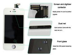 Дисплей Apple Iphone 4S в сборе с сенсорным стеклом черный цвет ОРИГИНАЛ в Киеве. Цена:  720 грн. +38 (050) 562-65-58 Viber, WhatsApp, Word Phone – Алексей Дисплейный модуль для Apple iPhone 4S. Цвет черный. В состав модуля входит LCD-дисплей, тачскрин, рамка, стекло дисплея с олеофобным покрытием. Оригинальное оборудование - содержит маркировку Apple. Протестировано. Гарантирует качественное изображение. Состав заказа: LCD-дисплей х 1 шт. Тачскрин х 1 шт. Стекло с олеофобным покрытием х 1…