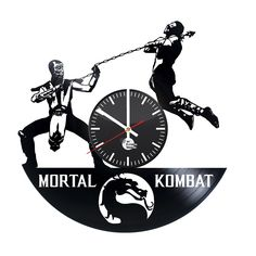 Mortal Combat Vinyl Record Wall Clock