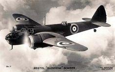 Bristol Blenheim Bomber - Vintage Postcard