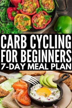 Carb Cycling for Weight Loss Carb cycling can be an effective and easy tool for losing weight for women and for men alike and we re sharing our favorite carb cycling meal plan which is chock full of ideas and low carb recipes to help you get a l # 7 Day Meal Plan, Diet Meal Plans, Keto Meal, Meal Prep, Weigh Loss Meal Plan, Low Carb Recipes, Diet Recipes, Healthy Recipes, Diet Tips