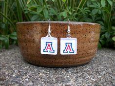 U of A Earrings University of Arizona Earrings by BadCatCraft