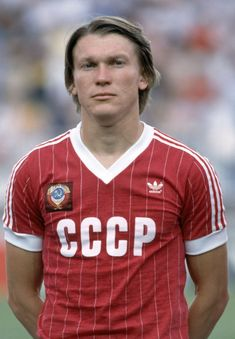 Oleg Blokhin of USSR prior to the FIFA World Cup match between the Soviet Union and New Zealand at La Rosaleda Stadium in Malaga, 19th June 1982. USSR won 3-0.