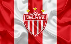 Download wallpapers Necaxa FC, 4K, Mexican Football Club, emblem, Necaxa logo, sign, football, Primera Division, Mexico Football Championships, Aguascalientes, Mexico, silk flag