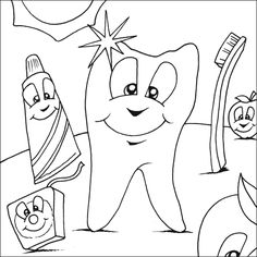 54 Dental Coloring Pages For Kids Ideas Dental Coloring Pages Dental Health