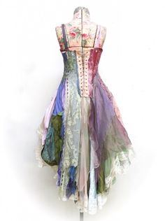 made entirely from reclaimed antique & vintage materials, many hand-dyed.