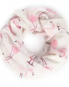 Flamingo Print Scarf