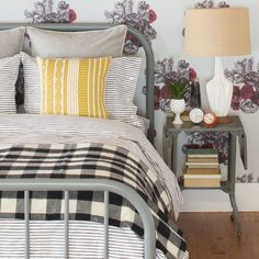 Buffalo Plaid Fringed Throw | Blankets + Throws | Bed + Bath