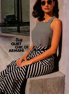"""The Quiet Chic Of Armani""  Model : Brenda Schad"