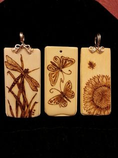 Old ivory piano keys are made into pendants