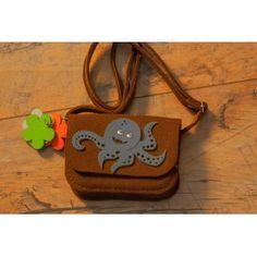Etoi Design - brązowa torebka z ośmiornicą