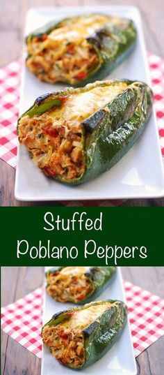 Stuffed Poblano Peppers Healthy Food Blogs, Healthy Recipes, Low Carb Recipes, Cooking Recipes, Cheap Recipes, Fast Recipes, Healthy Dishes, Healthy Meals, Stuffed Peppers Healthy